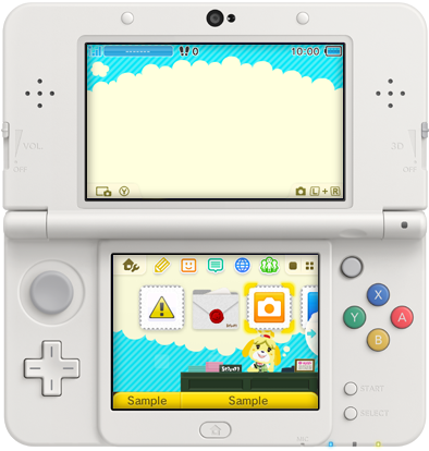 3DS Theme - Animal Crossing New Leaf - Isabelle at Town Hall.png