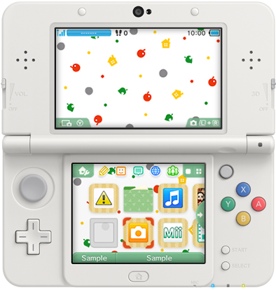 3DS Theme - Animal Crossing New Leaf - Colorful Pattern.png