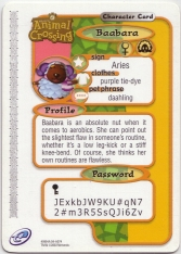 Animal Crossing-e 2-074 (Baabara - Back).jpg