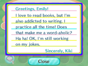 Letter   Nookipedia, the Animal Crossing wiki